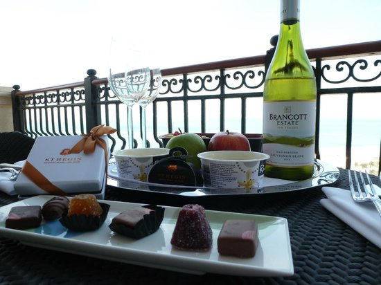 The St. Regis Saadiyat Island Resort: A little lunch we made for ourselves on our balcony