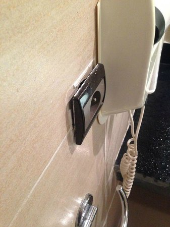 Aqua Fun Club: Plug Sockets hanging from rool wall