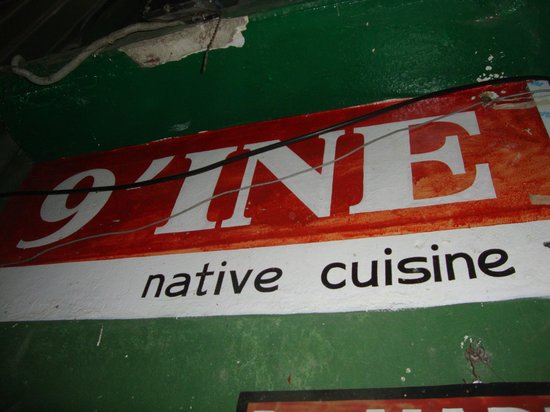 9'INE Native Cuisine: entry