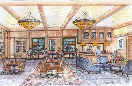 Aspen Lodge & Suites: Artist Sketch of Hotel Entry