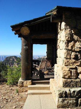 Grand Canyon Lodge - North Rim: Side Porch over Rim