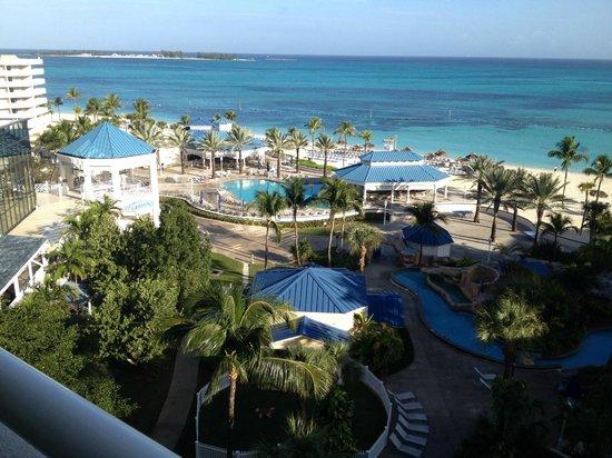 Melia Nassau Beach - All Inclusive: Resort looking north