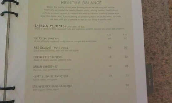 Hyatt Regency Trinidad: An idea of the menu