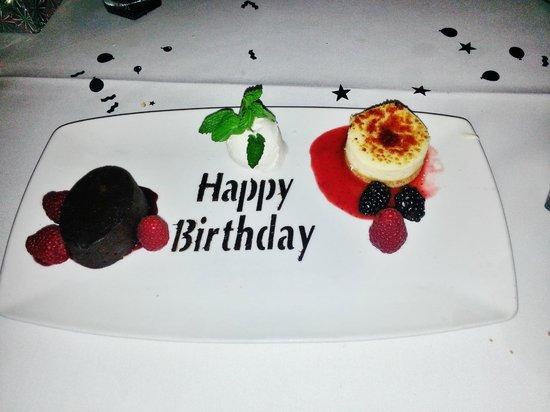 The Capital Grille: Happy Birthday Desert
