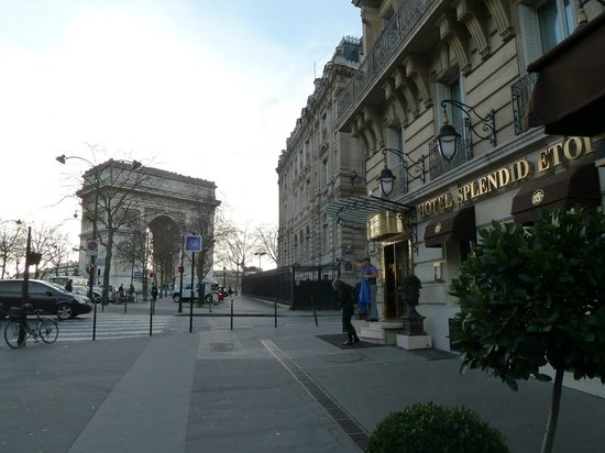 Splendid Etoile Hotel: How close can you be to the Arc de Triomphe ?!