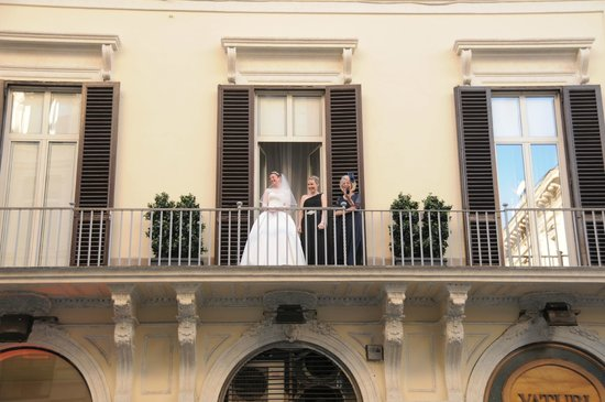 Hotel Regno : on the balcony