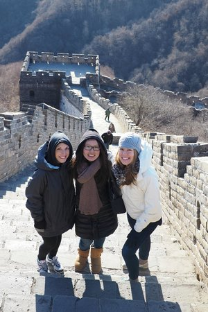 Beijing Private Tours By Jessie: My wife and one of our friends with Jessie at the Great Wall