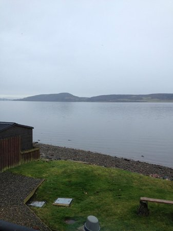 Beach Cottage B&B: View of Moray Firth, Inverness and The Black Isle from our room