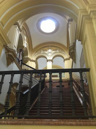 Real Fabrica de Tabacos: A grand staircase