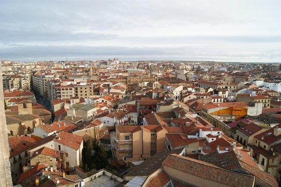Centro histórico de Salamanca: la Plaza Mayor desde las alturas