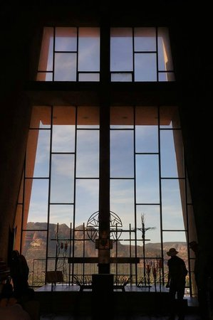 Chapel of the Holy Cross : the cross from the inside