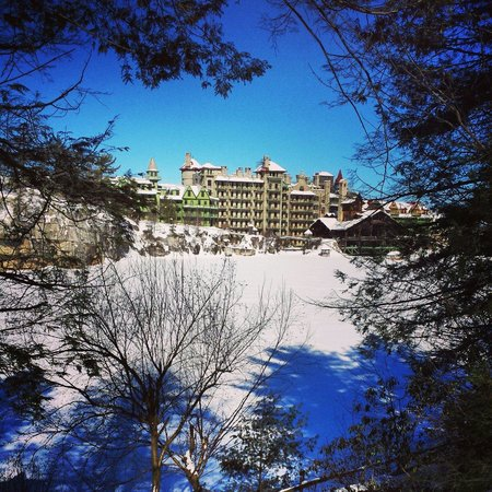 Mohonk Mountain House: View from one of the trails