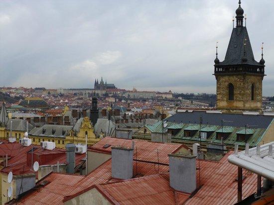 Sheraton Prague Charles Square Hotel: Blick von der Dachterrasse