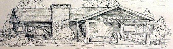 Quilcene, WA: Restaurant exterior sketch