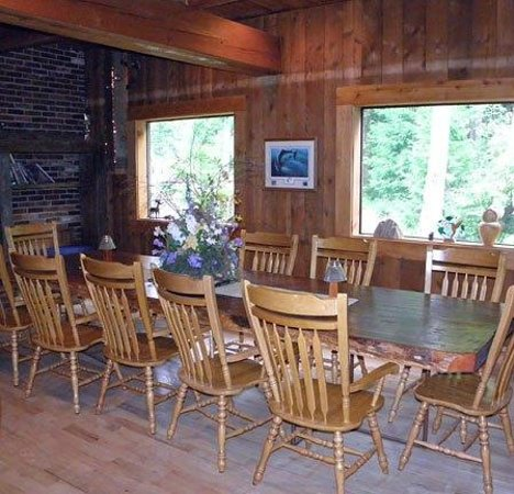 The Timberhouse Restaurant: Main Dining Room with Fireplace