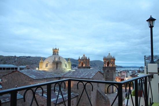 Hotel Conde de Lemos : Ausblick vom Balkon