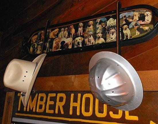 The Timberhouse Restaurant: Wall Decor, Logging, Hunting, Fishing