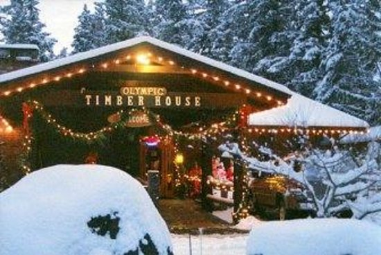 The Timberhouse Restaurant: Restaurant Exterior in Winter Snow