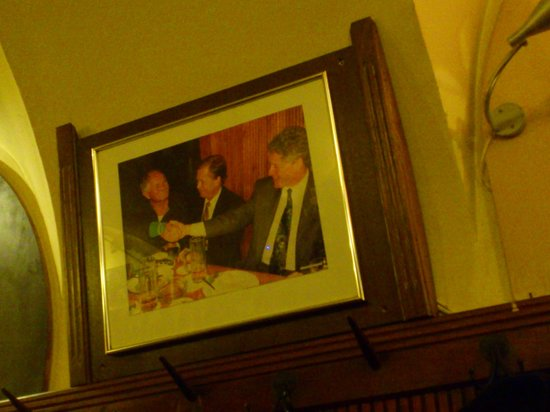 U Zlateho Tygra : Clintons visit. Pride of place. Better suited hung in the toilet.