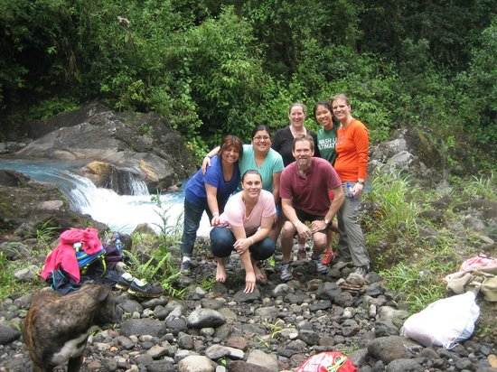 Blue River Resort & Hot Springs: After a dip in the beautiful blue lagoon!