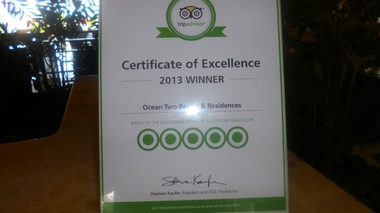 Ocean Two Resort & Residences: Well Done