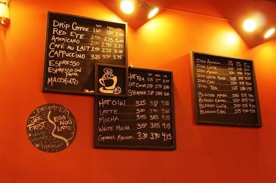 Rock Creek Coffee Roasters: Menu Boards