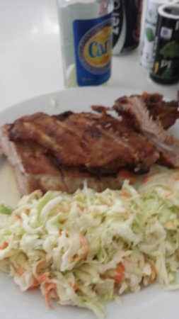 Sky's the Limit: Ribs and coleslaw