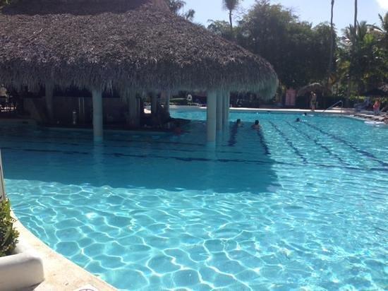Grand Palladium Punta Cana Resort & Spa: Pool and swim up pool bar
