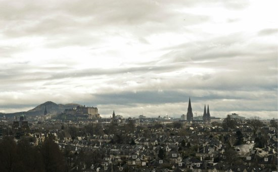 Holiday Inn Edinburgh City - West: view over City Centre, Arthur Sit, and the Castle
