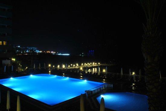 Jasmine Beach Resort: Вид из лобби(понравилась дневная фотка)