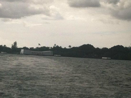 USS Arizona Memorial/World War II Valor in the Pacific National Monument: View from the ferry