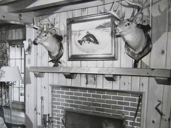 Seyon Lodge : The living room circa 1967