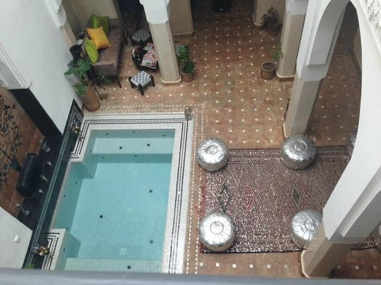 Riad Star: The inner courtyard of the riad with dipping pool.