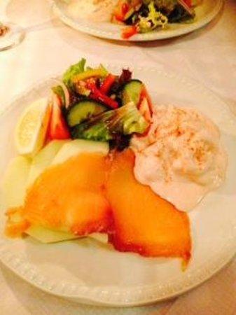 Matthew's Bistro: The melon platter starter.