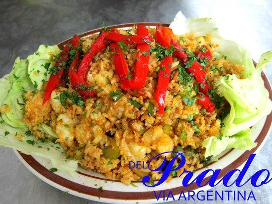 Restaurante y Cafeteria Del Prado: Arroz con langostinos