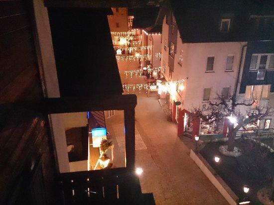 Hotel zum Hirschen: view from 3rd floor room 347