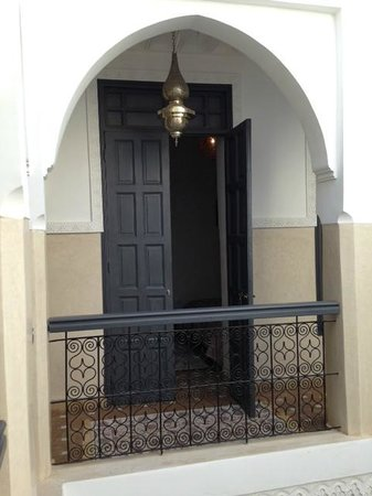 Riad Star: entry door to the Paris room- second floor