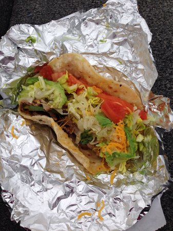 D'Vine Deli : Beef taco to go. Loved it. Two will fill you up.