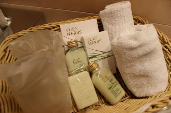 Unitas Hotel: Bathroom cosmetics