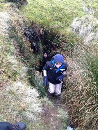 Footsteps - Walking the beauty of Northumberland: Secret cave on Bewick Moor