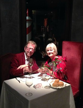 All'Angelo Hotel: Enjoying a lovely and unusual Valentin's dinner in the wine bar