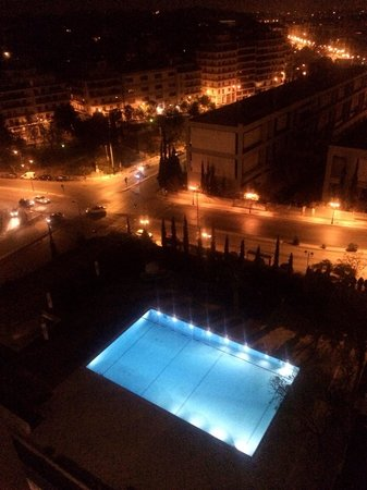 Hotel swimming pool at night pic taken from room balcony - Hotel with swimming pool on every balcony ...