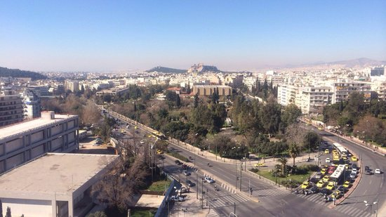 Hilton Athens: View from balcony in the morning!