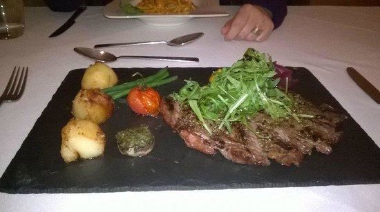 Sasso : Succulent, perfectly cooked rib-eye steak.