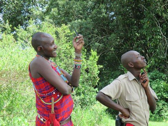 Rekero Camp, Asilia Africa: William. the waiter & a colleague