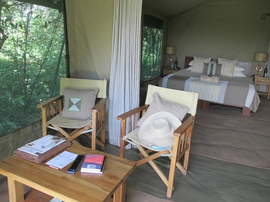 Rekero Camp, Asilia Africa: looking into the tent
