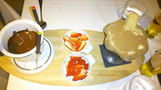 Brickoven Gold: Fonduta di cioccolato e tiramisù