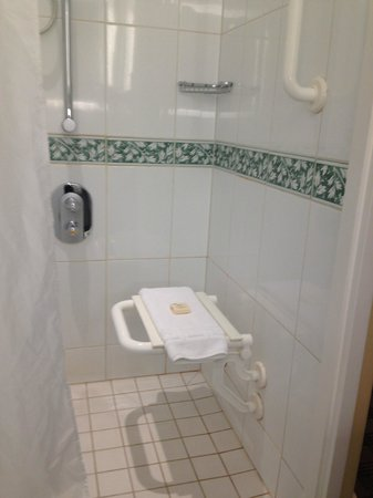 Fairmont St Andrews: small disabled shower seat - no level grab rails