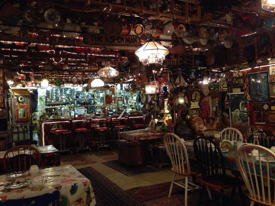 Frank's Bait & Taco: The big room of random decorations in the back of the restaurant