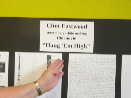 The Big Chile Inn: Clint Eastwood Slept here